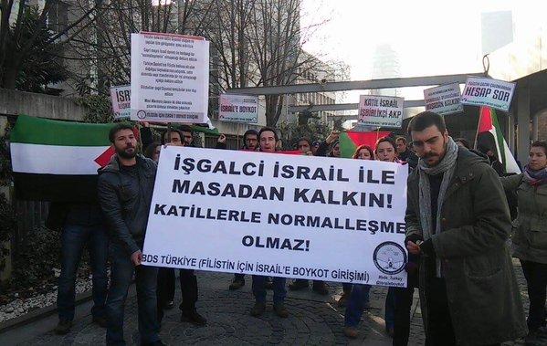 تجمع مقاطعة – تركيا: أوقفوا المفاوضات وأعلنوا أن لا للتطبيع مع الكيان الصهيوني
