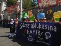 وقفة تضامنية في اسطنبول دعماً لغزة ولأسطول كسر الحصار
