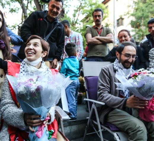 Samidoun'dan Nuriye ve Semih için açıklama: Türkiye'den Filistin'e tüm siyasi tutsaklara özgürlük!