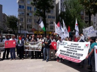 """Mersin'de eylem: """"Filistin bizim tek vatanımızdır!"""""""