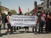"""BDS Türkiye'den İsrail Büyükelçiliği önünde eylem: """"Kudüs'ün özgürlüğü için İsrail'e boykot!"""""""