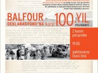 Balfour Deklarasyonu'nun 100. yılında basın açıklamasına çağrı