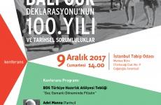 BDS Türkiye'den konferans: Balfour Deklarasyonu'nun 100. Yılı ve Tarihsel Sorumluluklar