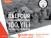 BDS Turkey conference: 100 years since Balfour Declaration and historical responsibilities
