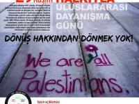 BDS Türkiye'den eylem çağrısı: Dönüş hakkından dönmek yok!